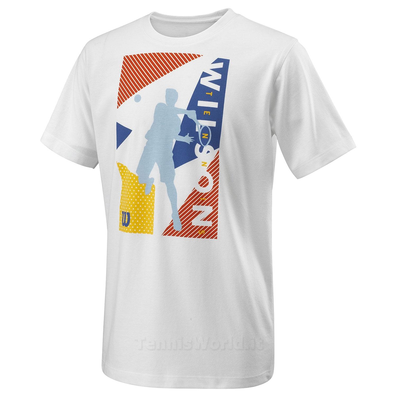 Wilson Geo Play T-Shirt JR White